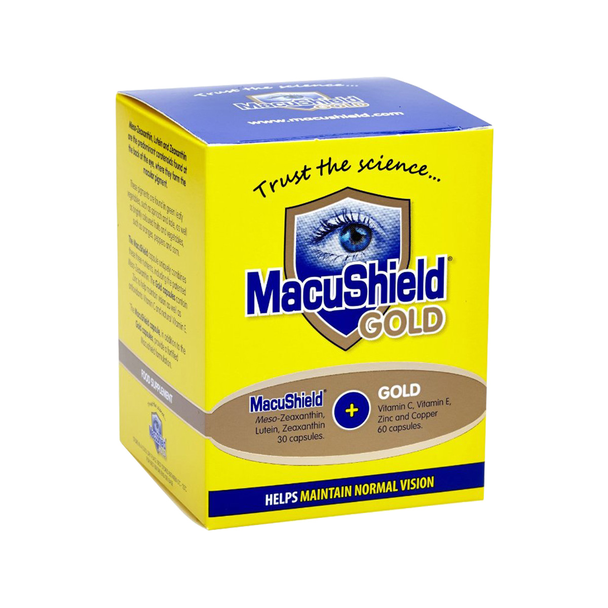 Image of MacuShield Gold 90 capsules